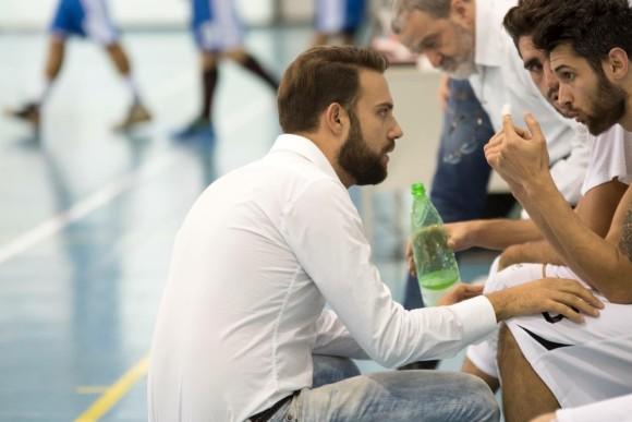 Coach G. Marini nella panchina della Serie C Silver